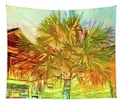 Palm Tree Portrait Tapestry