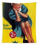 Palmers - Halb-strumpf - Vintage Germany Advertising Poster Tapestry