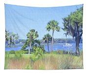 Palmetto Bluff Backyard Tapestry