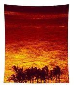 Palms And Reflections Tapestry