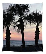 Palms At Sunset  Tapestry