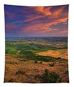 Palouse Skies Ablaze Tapestry