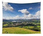 Panorama Of Keswick And Lake Derwent Water Panorama From Latrigg Tapestry