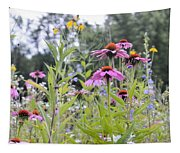 Panoramic Bouquet Tapestry