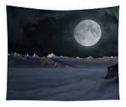 Panoramic Moonscape Tapestry