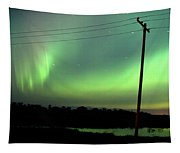 Panoramic Prairie Northern Lights Tapestry