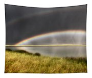 Panoramic Storm In The Marshes Tapestry