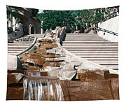 Panoramic View Of Stairs And Waterfall Tapestry