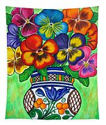 Pansy Parade Tapestry
