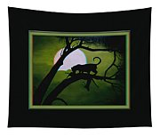 Panther Silhouette - Use Red-cyan 3d Glasses Tapestry