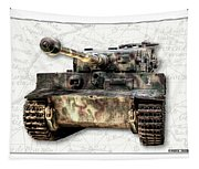 Panzer Tiger I Front Tapestry