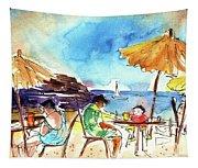 Papagayo Beach Bar In Lanzarote Tapestry