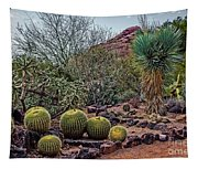 Papago And Barrels Tapestry