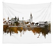 Pardubice Skyline City Brown Tapestry