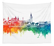 Pardubice Skyline City Color Tapestry
