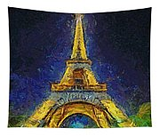 Paris By Night Tapestry