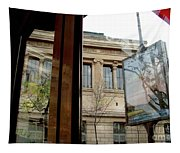 Paris Cafe Views Reflections Tapestry