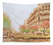 Paris, City Of Lovers Tapestry