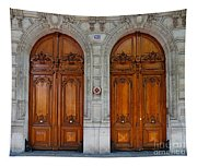 Paris Doors Tapestry