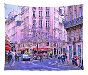 Paris Intersection Tapestry