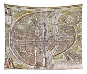Paris Map, 1581 Tapestry
