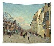 Paris Quai De Bercy Snow Effect Tapestry