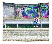 Paris, Sunday, Smooching On The Seine, Under The Eyes Tapestry