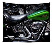 Parked Harleys Tapestry