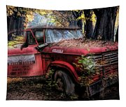 Parked On A Country Road Oil Painting Tapestry