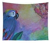 Parrot In Paradise Tapestry