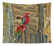 Parrots, Doue-la-fontaine Zoo, Loire, France Tapestry