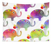 Party Parade - Elephant Children Pattern Tapestry