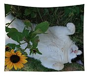 Passed Out Under The Daisies Tapestry