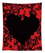 Passionate Love Heart Tapestry