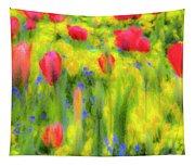 Pastel Summer Flowers  Tapestry