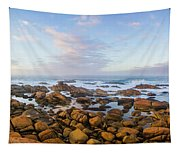 Pastel Tone Seaside Sunrise Tapestry