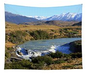 Patagonia Landscape Of Torres Del Paine National Park In Chile Tapestry
