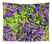 Patch Of Pansies Tapestry