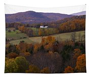 Patch Worked Mountains In Vermont Tapestry