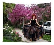 Patchwork Skirt - Hippie Fashion - Pink Spring Tapestry