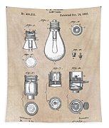 patent art Edison 1890 Lamp base Tapestry