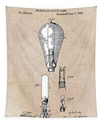 patent art Edison 1892 Incandescent electric lamp Tapestry