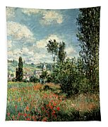 Path Through The Poppies Tapestry