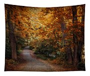 Path To Autumn  Tapestry