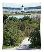 Path To Edgartown Lighthouse Tapestry