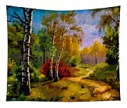 Pathway Through The Forest H B Tapestry