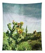 Patina Green Desert Bloom Tapestry