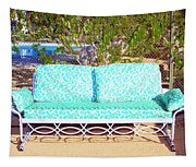 Patio Invitation Palm Springs Tapestry