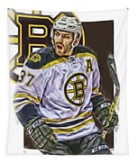 Patrice Bergeron Boston Bruins Oil Art 1 Tapestry
