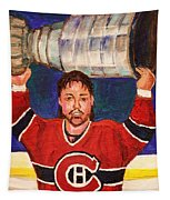 Patrick Roy Wins The Stanley Cup Tapestry